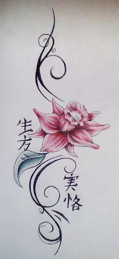 Water Lily Flower Tattoos Designs   water lily tattoo design