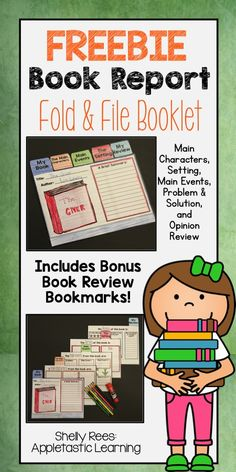 Book Report ideas are complete with this FREE Book Report Flip Book! Teachers, your students will love this creative book report project for elementary kids. All included printable templates make this DIY book report project easy and fun for elementary and middle school students in 3rd, 4th, 5th, 6th, and 7th grades! Great for teaching any genre - historical fiction, nonfiction, mystery, and fantasy!