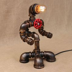 Fancy Pas cher Art d co noir atelier lampe de table e vintage r tro robot bureau lumi re applique