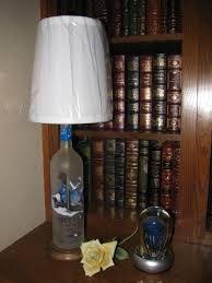 Image result for grey goose vodka bottle crafts Bottle Art, Bottle Crafts, Liquor Bottles, Vodka Bottle, Grey Goose Vodka, Craft Show Ideas, Lamp Light, Table Lamp, Lighting