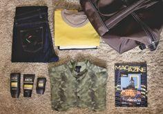 Weekend Travel Kit www.mauvert.com Travel Kits, Weekend Trips, Military Jacket, Skincare, Men, Beauty, Field Jacket, Weekend Getaways, Skincare Routine