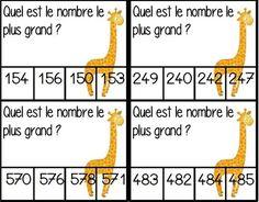Atelier comparer les nombres