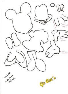 fomi moldes   Ge art´s: Presentinhos para vocês! Moldes apliques Mickey e Minie!