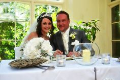 St Audries Park Bride and Groom