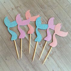 Cupcake Toppers Partito Mermaid Mermaid Cupcake Toppers