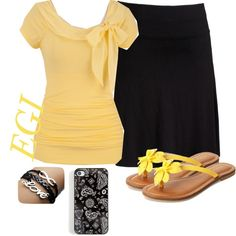 """""""Yellow And Black!"""" by isongirls on Polyvore"""