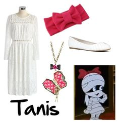 """""""Tanis from Scooby Doo Ghoul School"""" by krusi611 ❤ liked on Polyvore featuring Chicwish, Betsey Johnson and ALDO"""