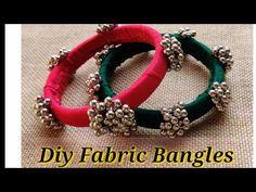 Diy Fabric Jewellery, Fancy Jewellery, Textile Jewelry, Silk Bangles, Thread Bangles, Handmade Jewelry Designs, Handcrafted Jewelry, Hand Accessories, Jewelry Model