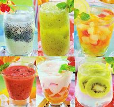 fresh cool drinks in the style of coffee by feiterbang Dessert Drinks, Fun Drinks, Yummy Drinks, Healthy Drinks, Beverages, Cold Drinks, Indonesian Desserts, Indonesian Food, My Recipes