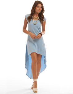 Pisces Fable Dress - Blue Hi-Low Dress - Jersey Dress | Island Company Fun in the Sun, Downtown Kirkwood, MO funsunsports.com