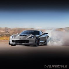 """@Welcome To The Car Game's photo: """"2015 Vette Z06 burning rubber • Render by @Welcome To The Car Game • • #Corvette #Z06 #2015 • • www.Car-Lifestyle.com •"""""""