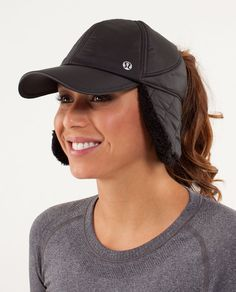 What the Fluff Run Hat.  I like the ear flap.  Winter running.