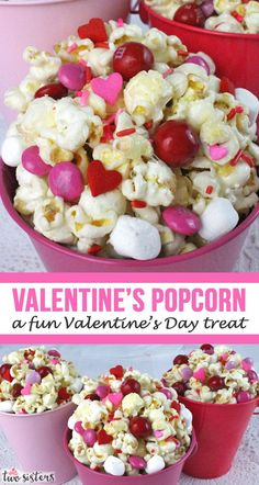 Valentines Day Popcorn is a great Sweet and Salty Popcorn treat - your family will know you love them when you make them this fun Valentines Dessert. Valentine Desserts, Valentines Day Treats, Kids Valentines, Valentinstag Party, Flavored Popcorn, Salty Snacks, Food Crafts, Sweet And Salty, Quick Easy Meals