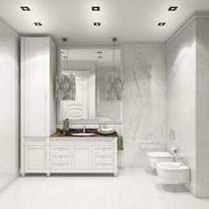 Baños de estilo clásico de Студия дизайна интерьера Маши Марченко