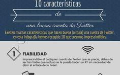 Las 10 características que definen una buena cuenta de Twitter (infografía)