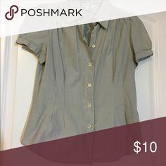 Zara Short Sleeve Button Down Blouse Grey Zara Short sleeve button down blouse. Zara Tops Button Down Shirts