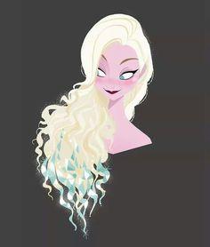 Como hubiera sido el peinado de Elsa