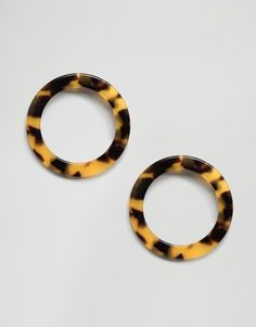 ASOS | ASOS Open Tortoise Circle Earrings