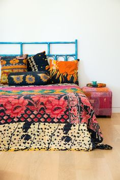 Vintage Kantha Bolster Cushions by AnotherWorldTrading on Etsy, $49.00