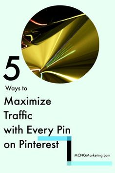awesome 5 Ways to Maximize Traffic with Every Pin On Pinterest (P2P Episode 1)... Social media So Pinteresting