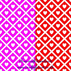 Red and pink hearts and diamond repeat pattern Valentines craft backing paper from Crafty Ferret