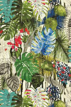 Beguiling Orchids by Noelle Newell for WSI-mag Christian Lacroix fabric