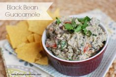 Black Bean Guacamole - healthy fats with a protein boost from greek yogurt and extra fiber thanks to the beans!
