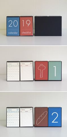 2019 New Year Calendar 2019 Fashion Simple Lovely Mini Table Calendars Vintage Kraft Paper Desk Calendar Office School Supply Skillful Manufacture Calendar Office & School Supplies