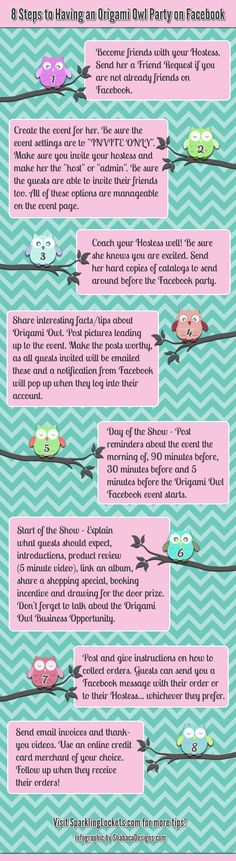 www.jill.miche.com Direct Sales Infographic facebook party outline idea