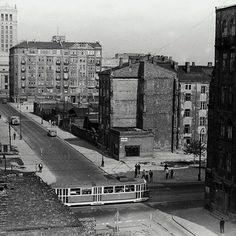Warszawa - skrzyżowanie ul. Złotej i Marchlewskiego (obecnie al. Jana Pawła) - 1967