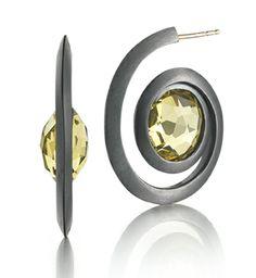 Diana Vincent - Lemon Quartz Spiral Earring #modern #jewelry