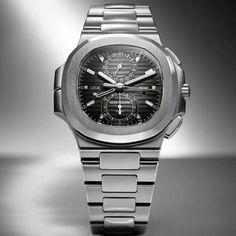 Patek philippe nautilus Travel time chronograph 5990 #baselworld