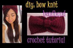 DIY: Bow Knit Headband Crochet Tutorial