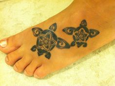 My new tattoo....sea turtles for my two boys!!