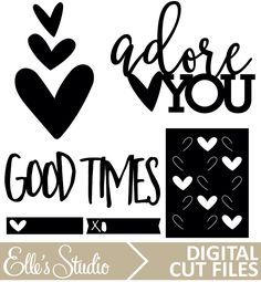 Scrapbooking Digital Cut Files from Elle's Studio