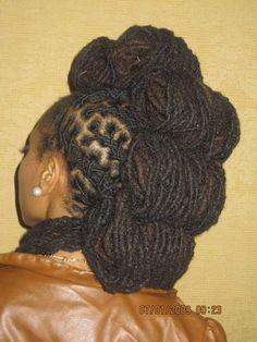 More Beautifu Locs Dreadlock Styles, Dreads Styles, Dreadlock Hairstyles, African Hairstyles, Cute Hairstyles, Dreadlock Rasta, Coiffure Hair, Beautiful Dreadlocks, My Hairstyle