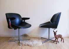 2 vintage Dutch design fauteuils, Artifort/Exquis? Set retro stoelen uit de jaren 60.