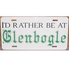 Monarch of the Glen License Plate Car Tag I'd rather be at Glenbogle. $12.00, via Etsy.