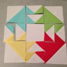 Super simple quilt block - love the simple colours! #patchwork #quilting