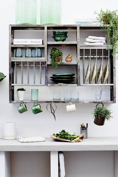 Kitchen Racks And Shelves, Plate Racks In Kitchen, Stainless Steel Kitchen Shelves, Metal Storage Shelves, Kitchen Storage Units, Plate Shelves, Kitchen Appliance Storage, Kitchen Organization, Wall Mounted Kitchen Shelves