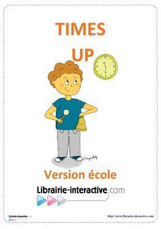 Une version du célèbre jeu de Time's UP pour jouer à l'école. Cartes illustrées.
