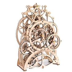 The Mechanical Pendulum Clock Building Kit lets you observe what makes time tick, by building your own pendulum clock. For every second that goes by, gears work together to bring about movement. Observe the fascinating mechanical movements of time today! Wooden Clock Kits, Model Kits For Adults, Wooden Gears, Mechanical Clock, Pendulum Clock, Diy Clock, Clock Art, Mantel Clocks, Metal Spring