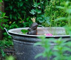 Romantischer Mini-Teich - ein Garten DIY auf mrsgreenhouse.de