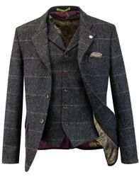 Grouse GIBSON LONDON Matching Blazer & Waistcoat in charcoal: https://www.atomretro.com/28543 #gibsonlondon #blazer #jacket #tailoring #waistcoat #atomretro #mensfashion #mensstyle