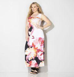 Watercolor Floral Maxi DressWatercolor Floral Maxi Dress,
