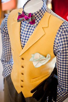 Sometimes, we just have to go crazy - pink, blue, yellow, checks, stripes - just make a statement.