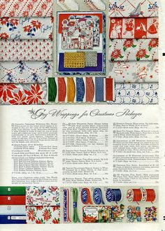 """""""Gay Wrappings for Christmas Packages"""" from the 1944 Montgomery-Ward Christmas catalog"""