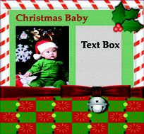 Christmas Baby scrapbook layout tutorial: