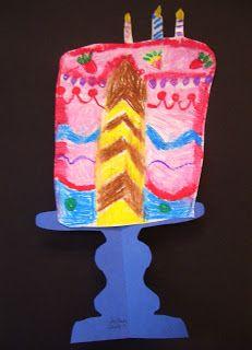 Extension for older children (symmetrical cake stands) Wayne Thiebaud
