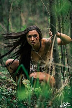 That night, the princess became a warrior. Daubing her face to give herself courage, she sneaked into the trappers' camp while they slept, careless of any danger. Silently, Pocohontas picked up both muskets, plus the hunting knives Saul and Watt had stacked by their fire, and made off with them. Smiling with satisfaction, the Indian girl threw the palefaces' weapons into the river!